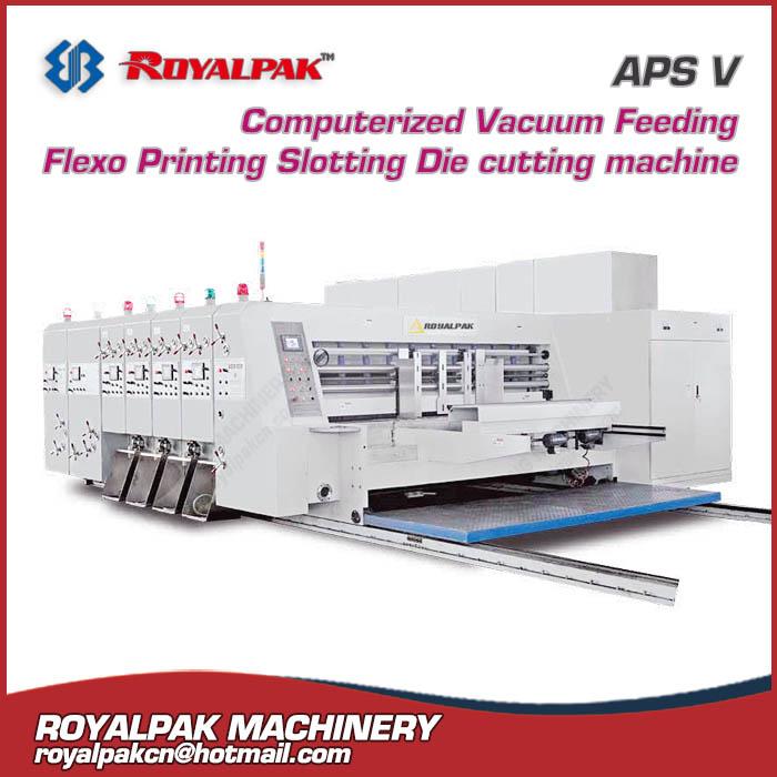 APS V flexo printing slotter die cutter