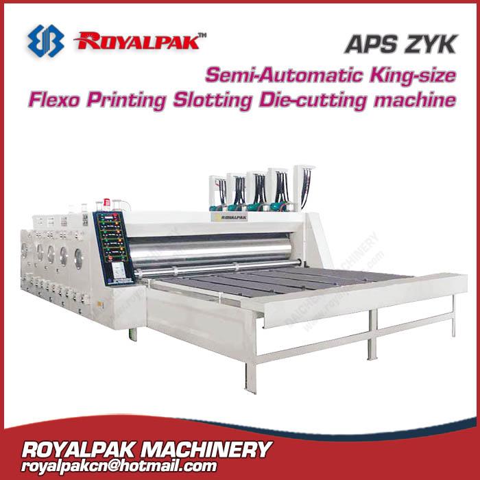 APS-ZYK flexo printing slotter die cutter