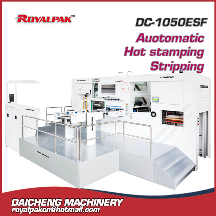 DC-1050ESF Automatic hot stamping die cutting machine with stripping