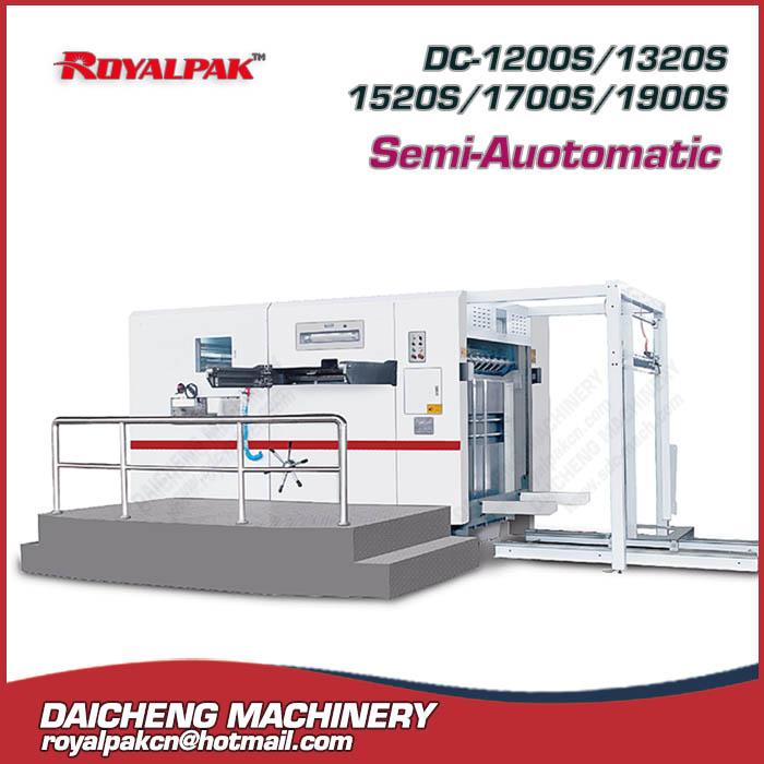 DC-1200S-1320S-1520S-1700S-1900S Semi-automatic die cutting machine