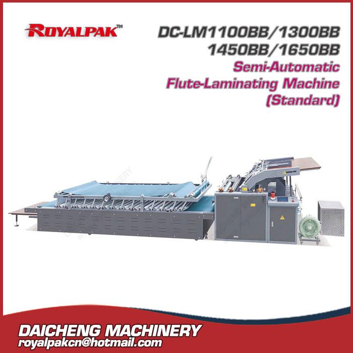 DC-LM1100BB-1300BB-1450BB-1650BB Semi-Auto Flute-Laminating machine