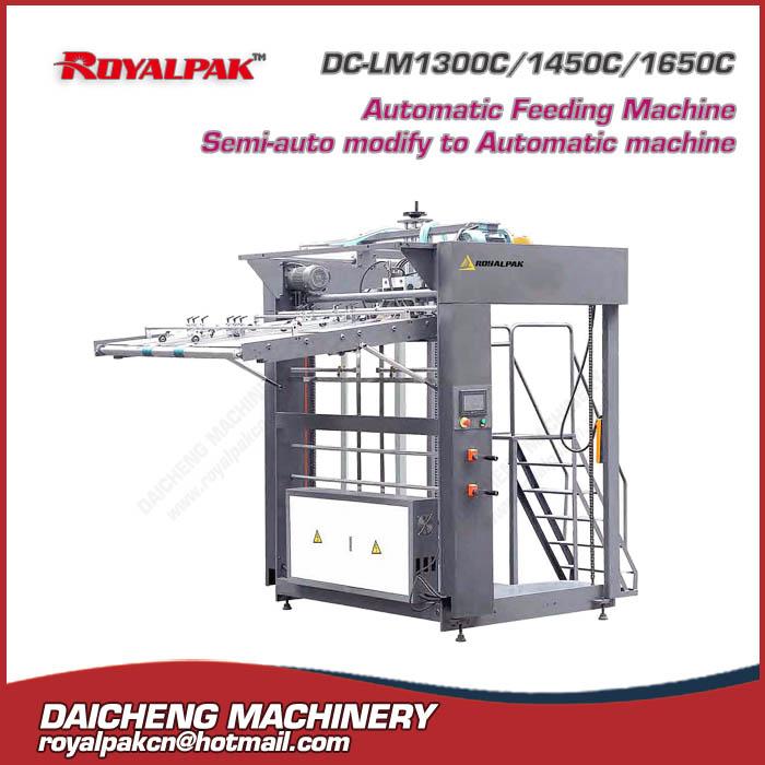 DC-LM1300C-1450C-1650C Automatic Feeding Macine Semi-auto modify to Automatic chine